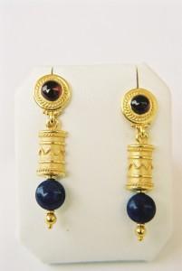 orecchini pendenti con lapislazzuli
