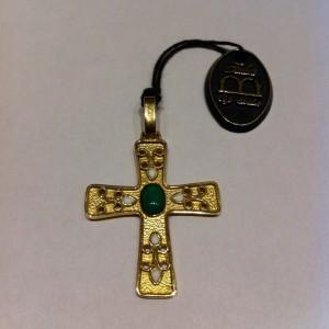 croce longobarda con tormalina